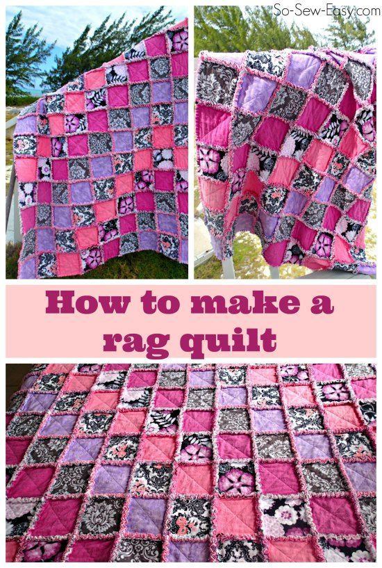 I always wondered how to make a rag quilt, and this is a great tutorial. Has a video and a photo step by step. Snuggly-wuggly goodness :-)