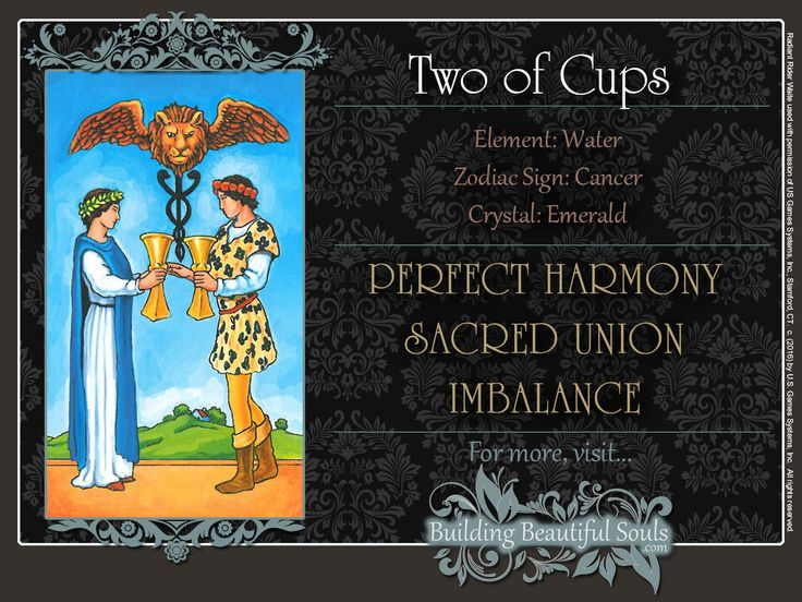 THE Two of Cups TAROT CARD MEANINGS - UPRIGHT& REVERSED! The Two of Cups Tarot includes LOVE, NUMEROLOGY, & SYMBOLS for more accurate TAROT READING.