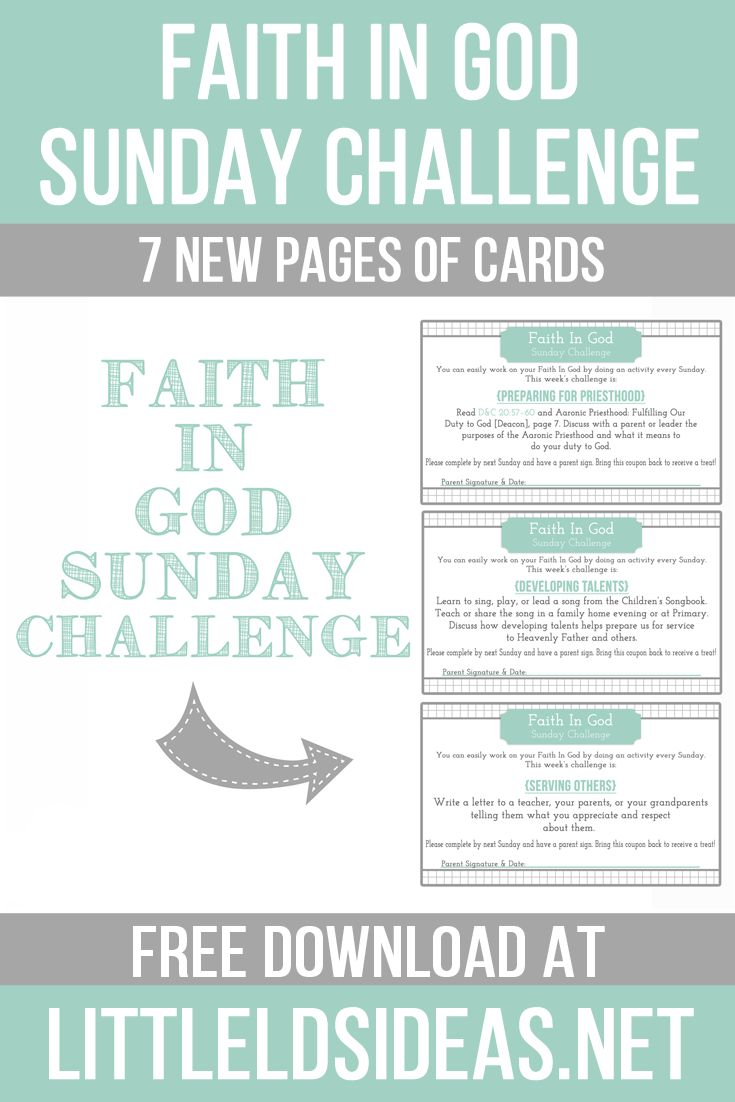 Help the primary children or your own children complete their Faith in God with…