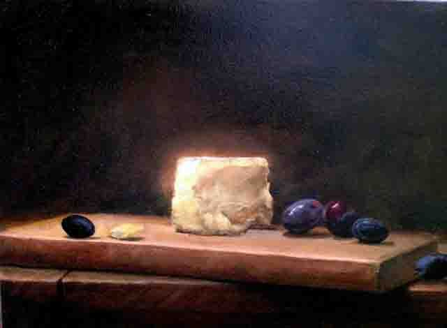 Peter Barker  Cheese Board  Oil on Canvas