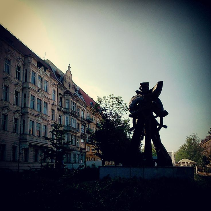 Sailor's statue in #Szczecin in al. Jana Pawła II. A place many of us go to have a sip of #coffee.