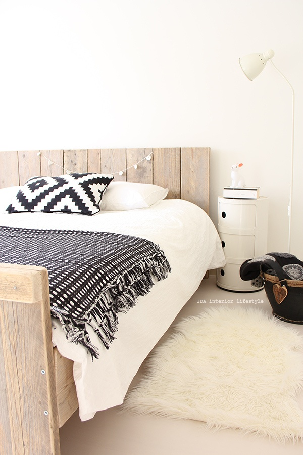 simple rustic bed