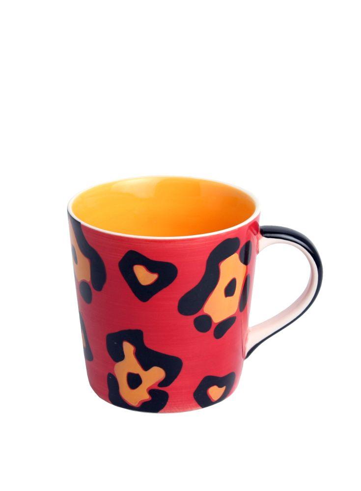 A Loja do Gato Preto   Caneca Leopardo Vermelho #alojadogatopreto