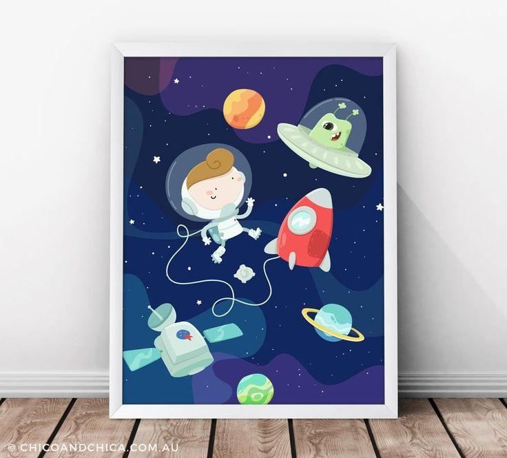 Spaceship - Kids Print - Chico & Chica