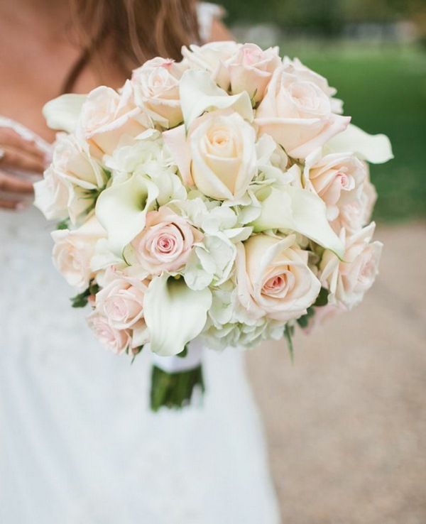 Bridal Bouquet Of Roses Calla Lilies Romanticism Brautstrauss