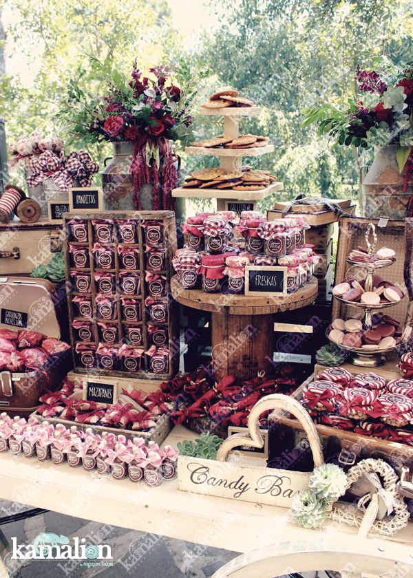 www.kamalion.com.mx - Mesa de Dulces / Candy Bar / Postres / Boda / Marsala…