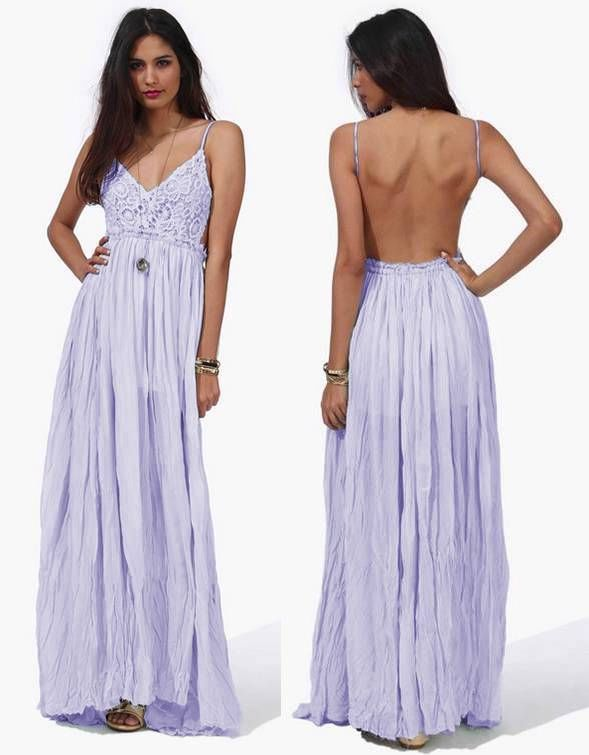 Galerry casual lavender maxi dress