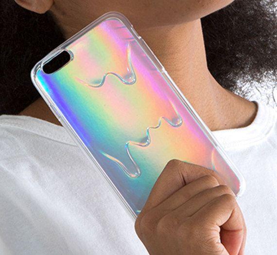 Holographische Schleim schmelzen Soft Case für von MissPurpleVelvet