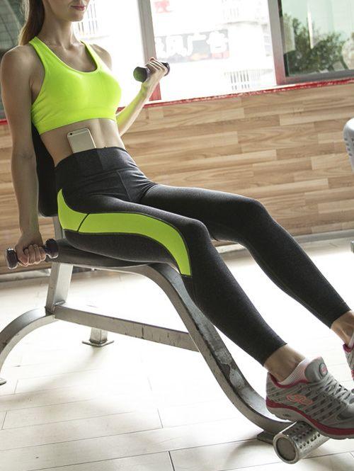 Sporty Bra and Skinny Ninth Pants Yoga Suit