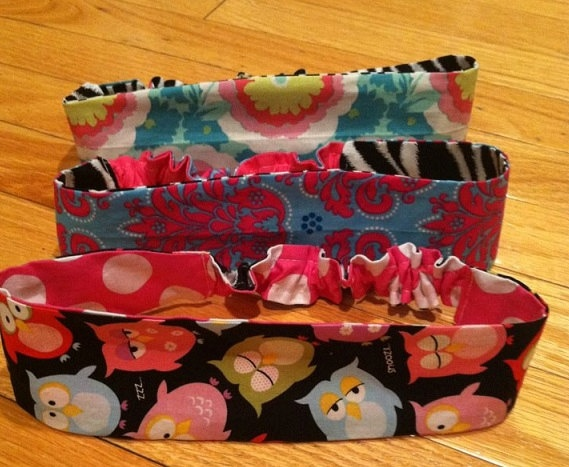 boutique reversible stretchy headband for teens and by hrstaley, $12.00