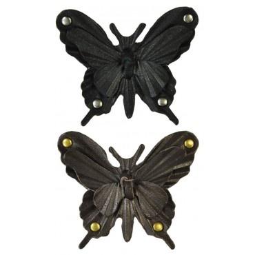 Echt lederen Butterfly Clipz. Trendy losse vlinder clipz om aan schoentjes en accessoires te klemmen.