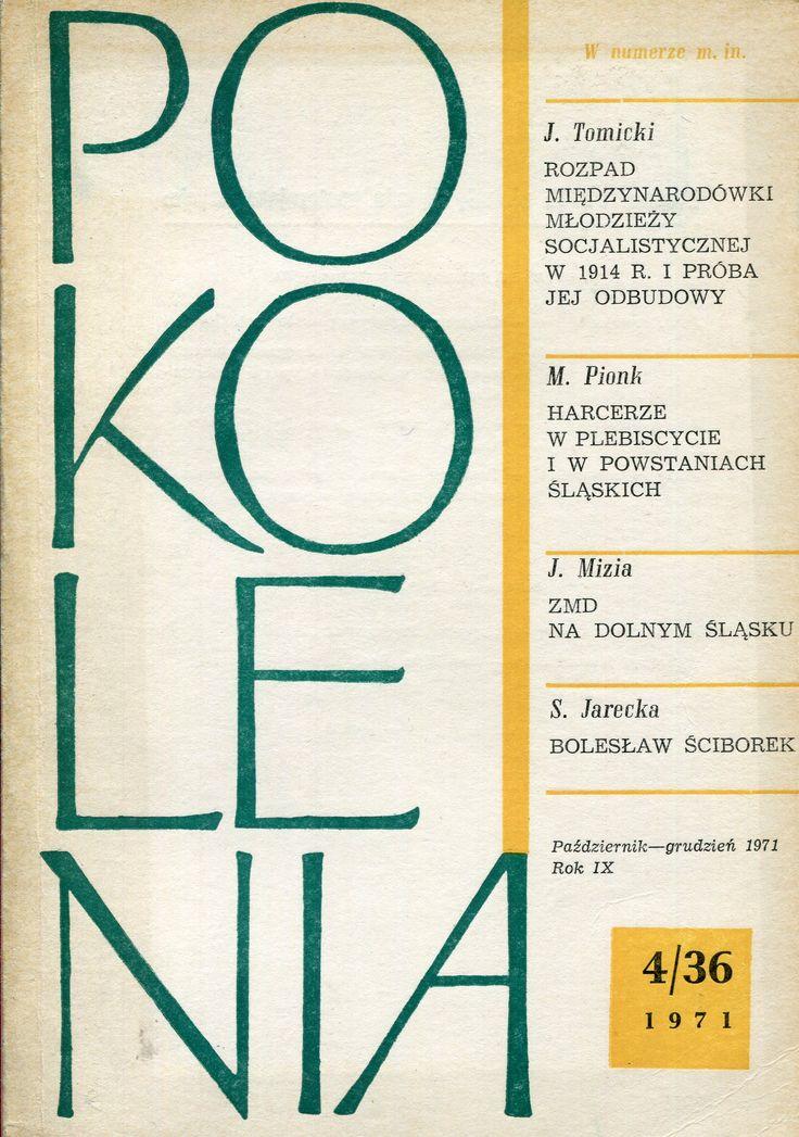 """""""Pokolenia"""" Cover by Jan Śliwiński Published by Wydawnictwo Iskry 1971"""