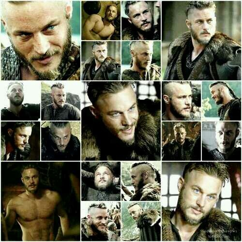 """Travis Fimmel as Ragnar on """"Vikings"""". Is he Charlie Hunnam's twin?  OMG I can't stand it! Follow My Vikings Board to compare Travis and Charlie!"""
