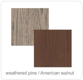 weathered pine african walnut top