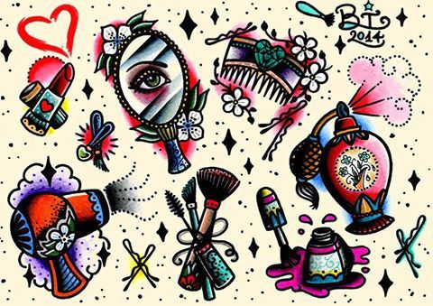 tattoo flash cute tattoos tattoos girly tattoos makeup tattoos rock ...