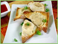 Hungry Girl's version of crab rangoons - only 3 points plus for 4 of them. Looks delicious!