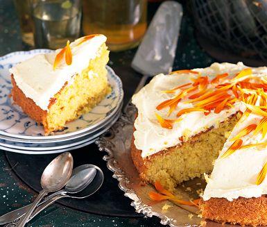 Recept: Palsternackskaka med apelsinfrosting
