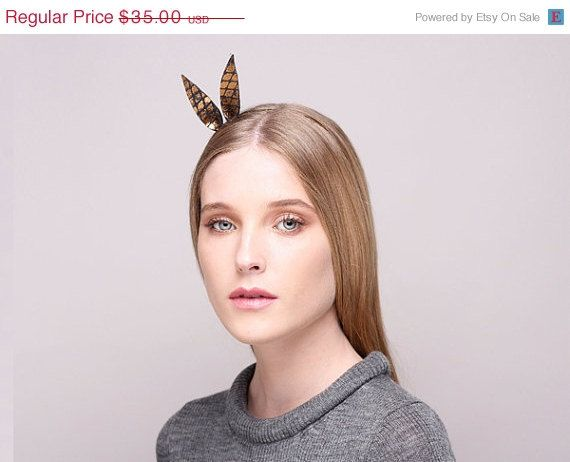 Winter Sale Black & Gold Alice Band Alice Band With by JustineHats
