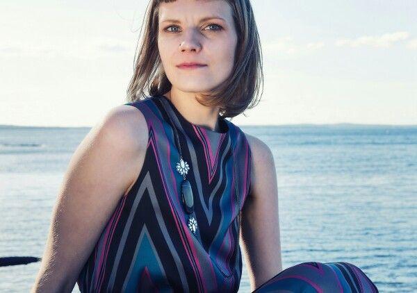 Välke necklace by Carina Blomqvist. Photography Nina Maaninka.  Dress Sinikka Nikander. Model Meri.