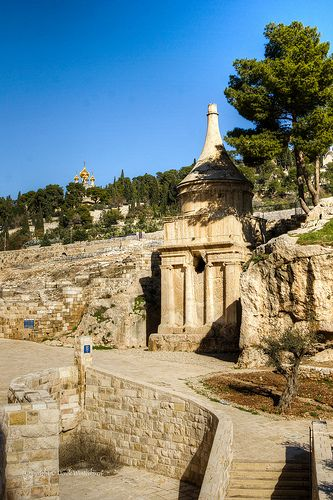 Tomb of Absalom, Jerusalem, Israel | Absalom was the 3rd son of David, King of Israel w/Maachah, daughter of Talmai, King of Geshur. He is described as the most handsome man in the kingdom. He rebelled against his father and was killed during the Battle of Ephraim Wood.