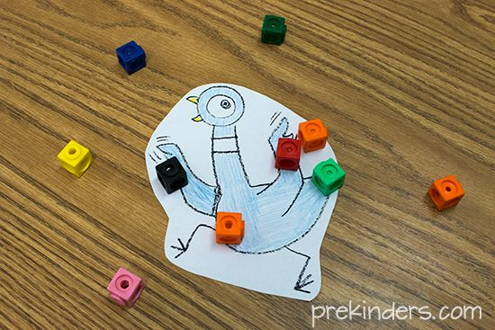 The Pigeon Counts! Game - PreKinders. This is a great site: has math/literacy concepts and free pritables.