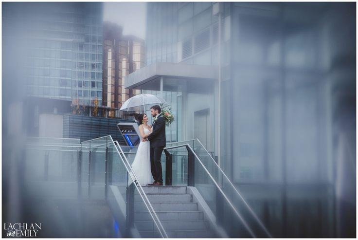 Rainy Coal Harbour Wedding Photography