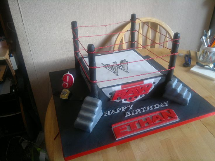 wrestling cakes | WWE wrestling ring — Birthday Cakes