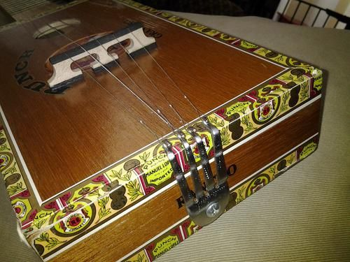 how to make a guitar out of a cigar box