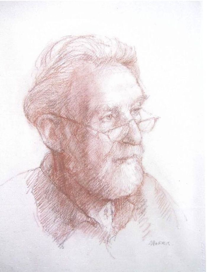 Anthony Morris 'A Drawing Of A Friend' sanguine, red chalk