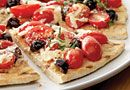 Grilled Pizza with Tomatoes & Olives - The Pampered Chef®