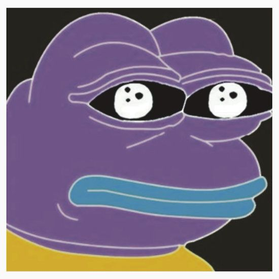 REDBUBBLE Inverted Color Pepe the Frog Dank Meme