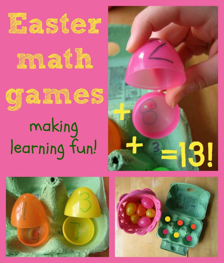 A great selection of math games using Easter eggs: good for a range of ages and working on different math skills