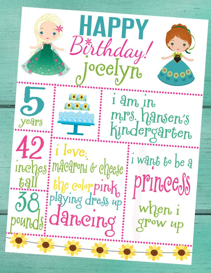 Frozen Fever Party Customized Whiteboard Birthday Sign by padicakesparty on Etsy