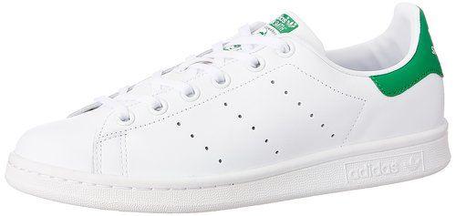 adidas Stan Smith J - Zapatillas deportivas para niño, color blanco / verde, talla 38 2/3