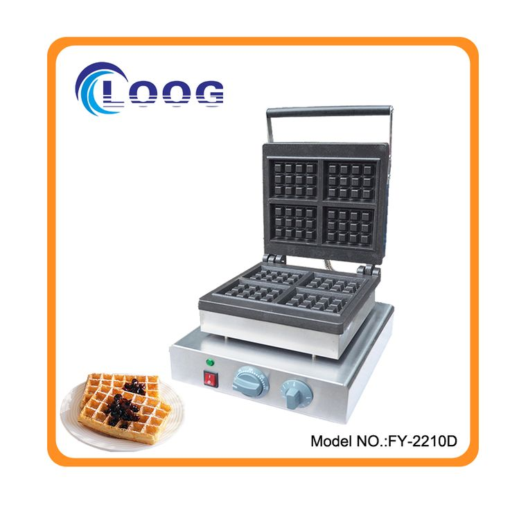Free shipping single plate waffle maker rectangle waffle maker industrial for sale