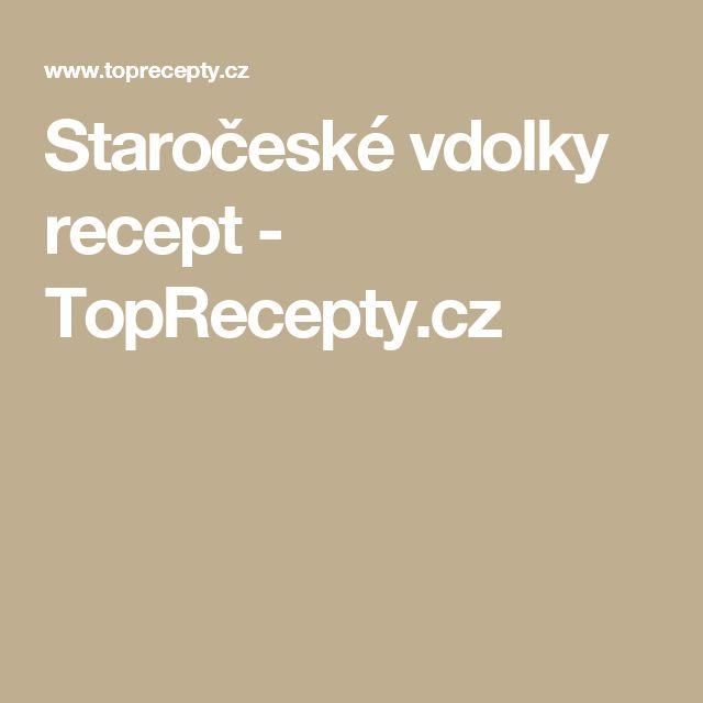 Staročeské vdolky recept - TopRecepty.cz