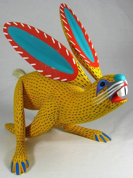 Oaxacan Carved Rabbit. Mexico.Mexicans Folk, Artists Ventures, Folk Art, Oaxacan Animal, Oaxacan Alebrijes, Wascal Wabbit, Carvings Rabbit, Mexico Art, Oaxacan Carvings