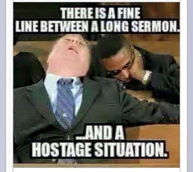 Sermon or hostage situation meme  #christianmeme #christian #memes