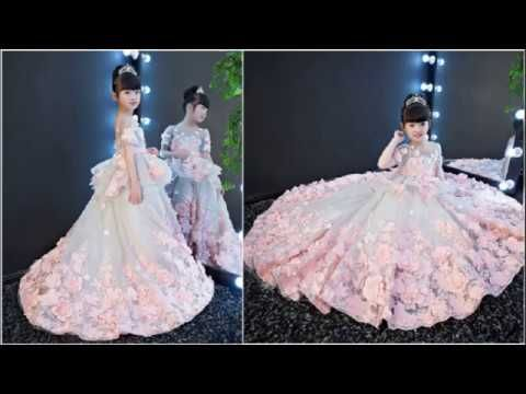 6d8cd6cd16 Designer Luxury Party Wear Dresses for Baby Girls | Kids Long Tail ...