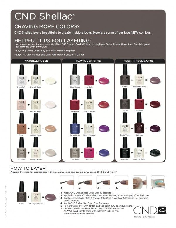 CND Shellac - Colour Layering Guide Click to enlarge.