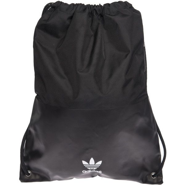 Adidas Originals Fashion XL Gym Sack Tote ($36) ❤ liked on Polyvore featuring bags, handbags, tote bags, black, tote bag purse, adidas originals, tote purses, drawstring tote bags and drawstring purse