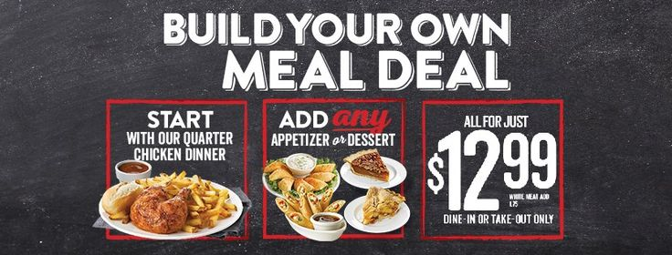Swiss Chalet Canada Build Your Own Meal Deal: Quarter Chicken Dinner with Any Appetizer or Dessert for Only $12.99! http://www.lavahotdeals.com/ca/cheap/swiss-chalet-canada-build-meal-deal-quarter-chicken/180954?utm_source=pinterest&utm_medium=rss&utm_campaign=at_lavahotdeals