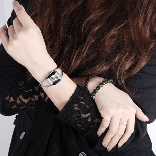 KIMIO 009 Luxury Bracelet Watch Ladies Fashion Style Stainless Steel Square Dial Watch