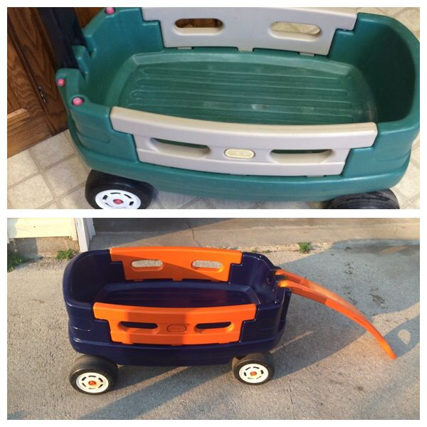 Little Tikes Wagon Makeover!:). Detroit Tigers Style.  Just need to get Stickers for it;)