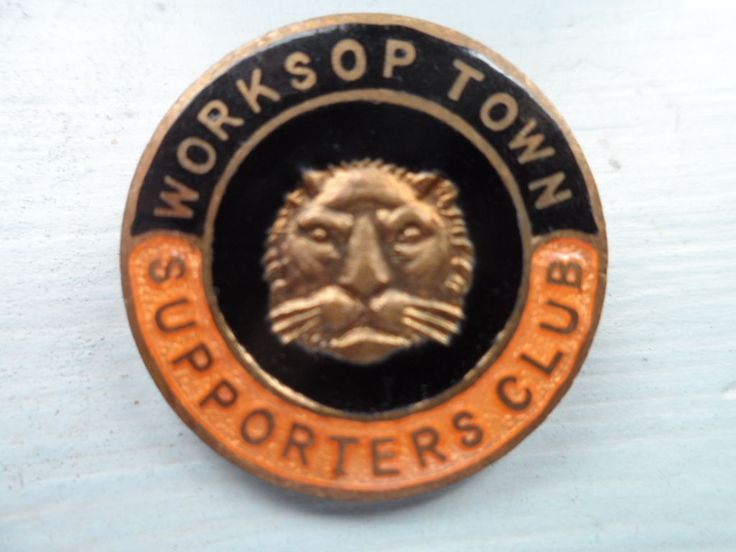 Old Worksop Town Football Supporters Club Enamel Badge | eBay