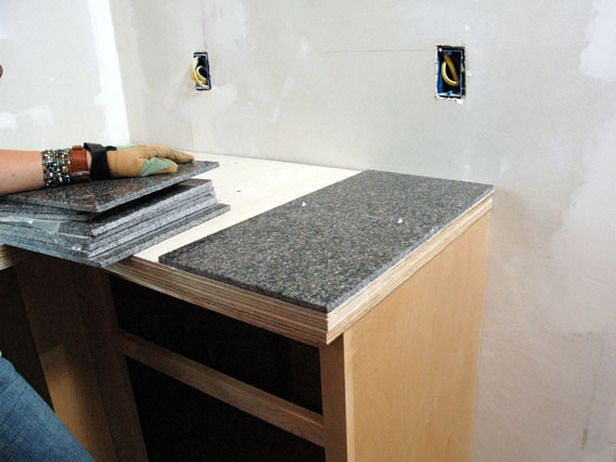 How To Install A Granite Tile Kitchen Countertop Diy Countertops Tile Countertops Kitchen Tile Countertops