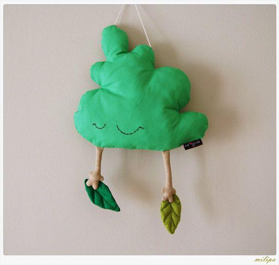 """Baum geformten Kissen gefüllt gefüllte Kissen Kinder Spielzeug Kindergarten Raum Decor Kleinkind Baby Mobile Wal Dekor Housewares grün Beige 18""""(45cm)"""