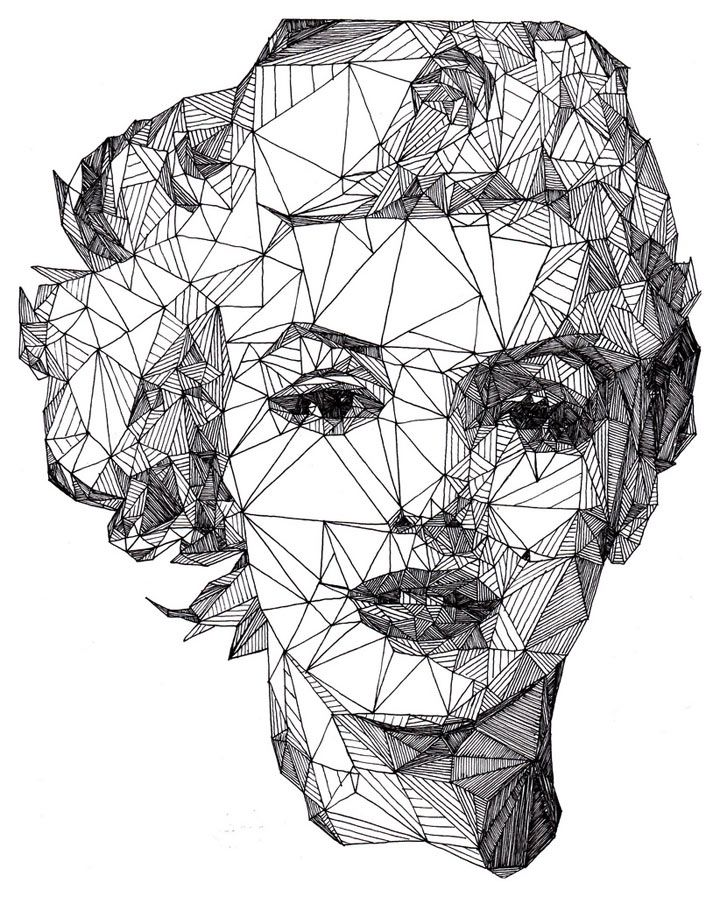 geometrische Promi-Portraits von Josh Bryan