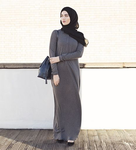 charcoal everyday shirt abaya