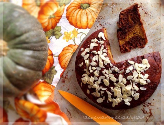 La cucina di Nuccia: Torta di zucca panna e cioccolato profumata alla cannella e rosmarino
